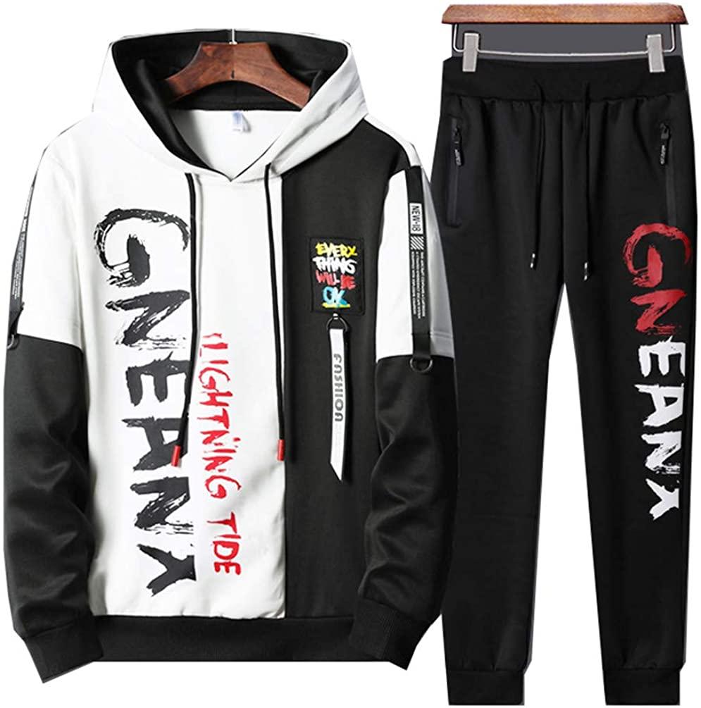 Men Sweatshirts Sportswear Two Piece Sets Hoodie + Pants Track Suit