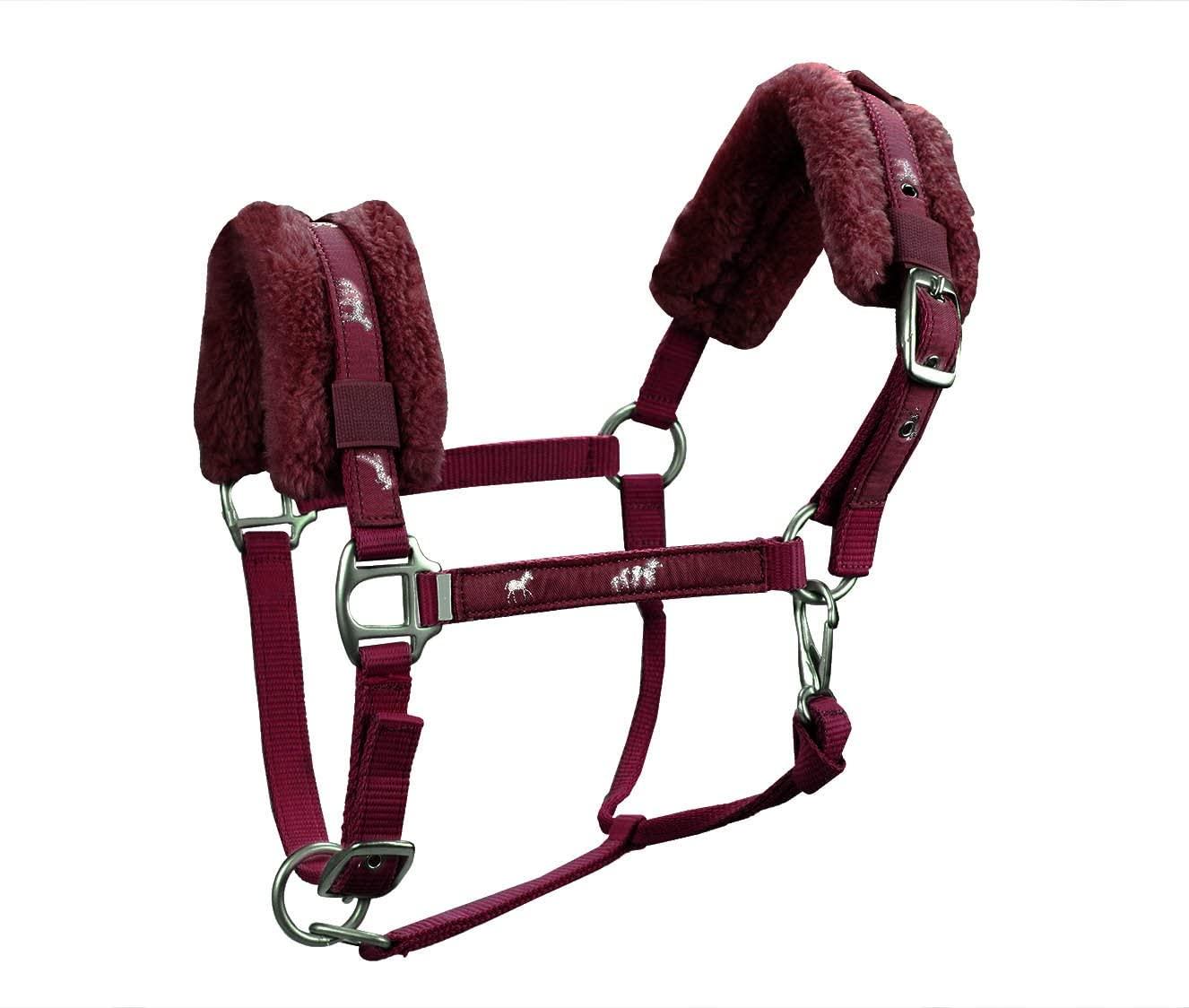 Derby Originals Padded Comfort Nylon Fleece Yearling Horse Halter