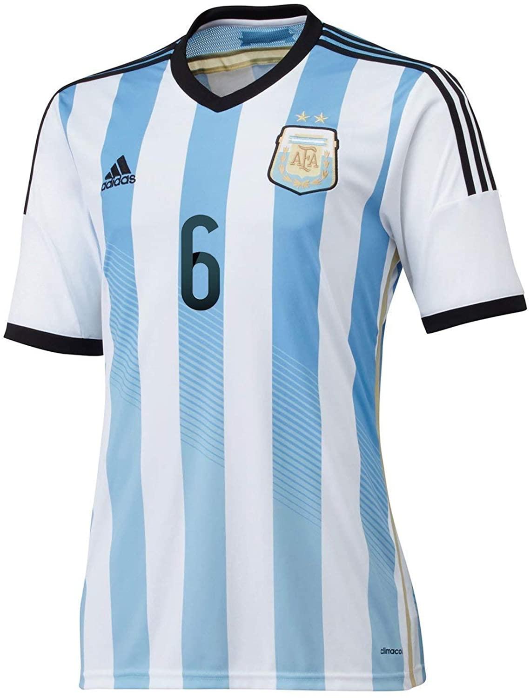 adidas L. BIGLIA #6 Argentina Home Jersey World Cup 2014