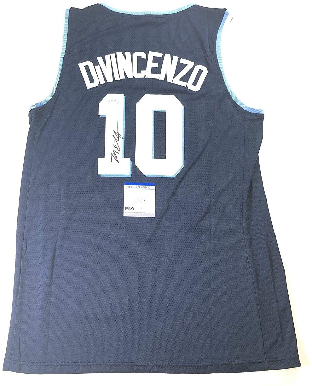 Donte DiVincenzo Autographed Jersey - Villanova - PSA/DNA Certified - Autographed NBA Jerseys