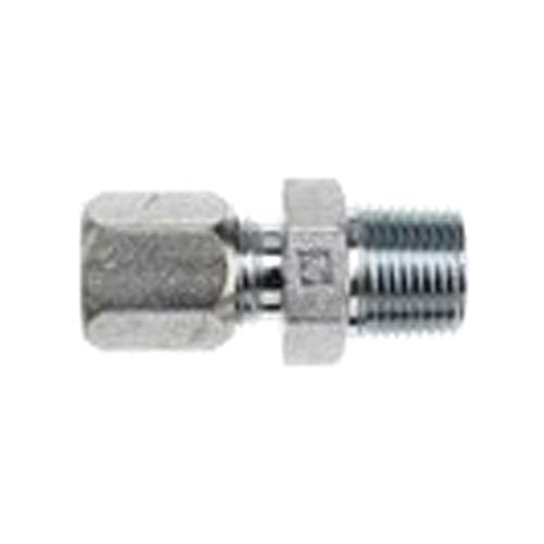 Brennan Industries C2404-08-08-SS Stainless Steel Straight Adapter Flareless Bite Type Fitting, 1/2