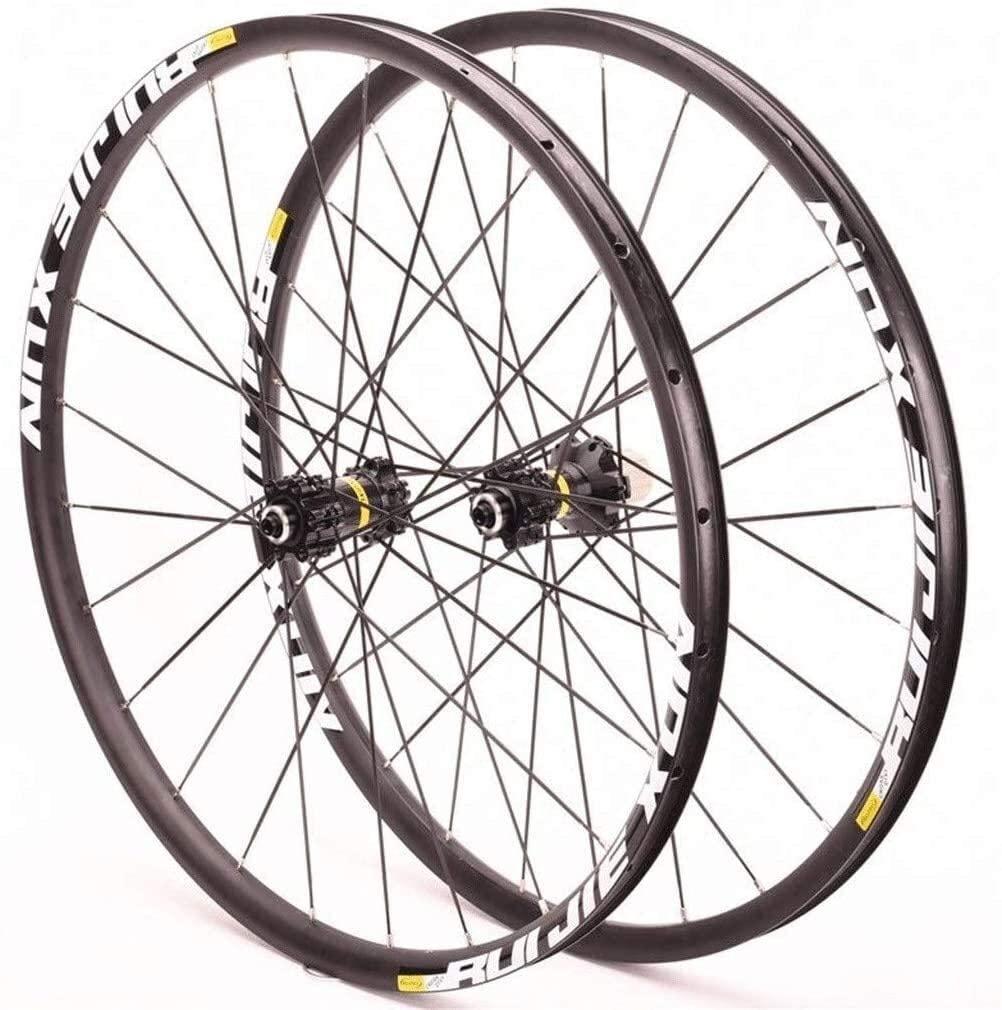 BZLLW Bike Wheel,Road Wheelset 700C Disc Brake Bike Wheel 25mm Double Wall Alloy Rim 27mm Outside 23.5mm Inside QR 9mm 8/9/10/11 Speed Cassette Hub