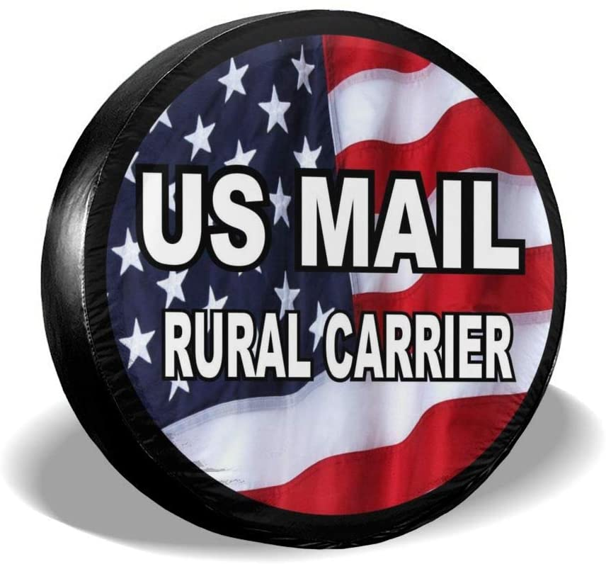 WWT Us Mail Rural Carrier Spare Tire Cover Waterproof Dust-Proof for Jeep,Trailer,RV,SUV,Truck and Other Vehicles
