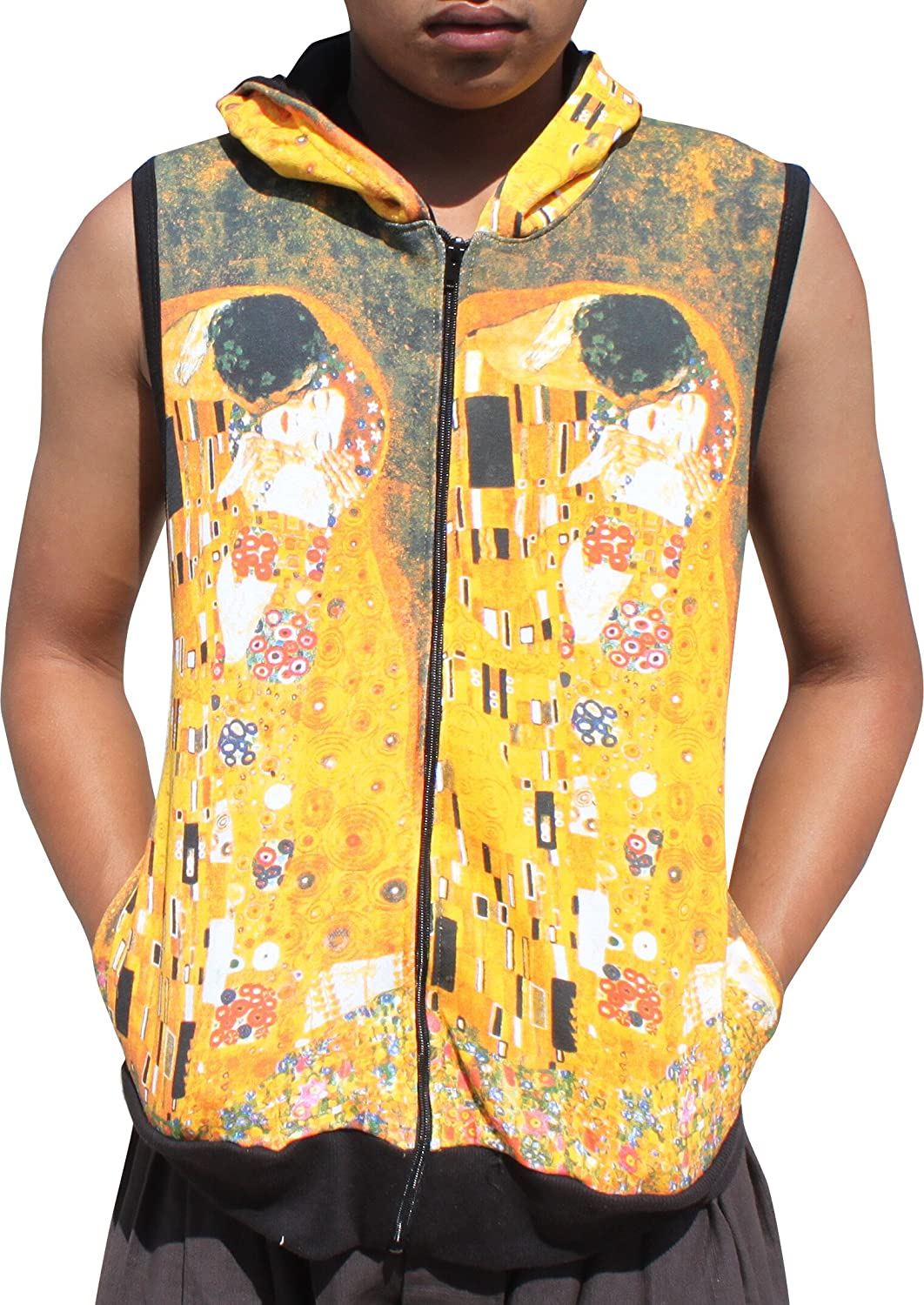 RaanPahMuang Gustav Klimt The Kiss Sleeveless Hoody