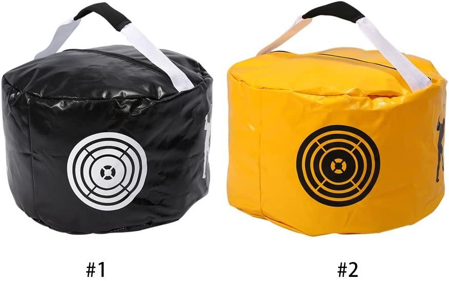 Vbestlife Golf Impact Power Smash Bag Swing Training Aids Impact Contact Power Golfer Practicing Hitting Bags Black/Yellow (Yellow)