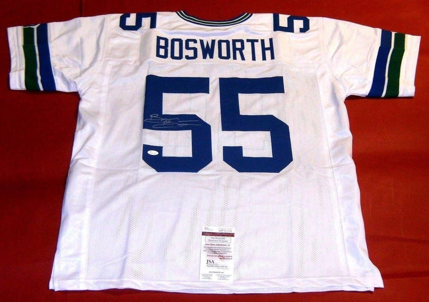 Autographed Brian Bosworth Jersey - Throwback W - JSA Certified - Autographed NFL Jerseys