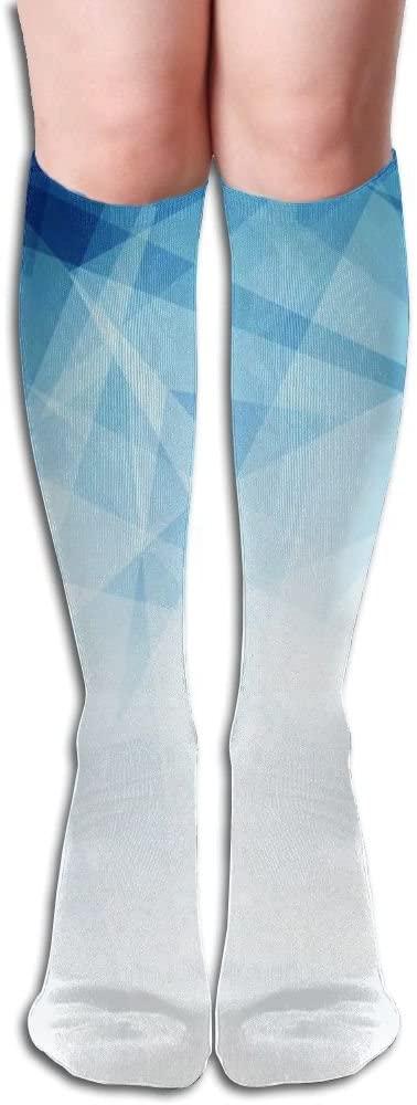 MASDUIH Blue Square Knee High Crew Socks Knee High Stockings