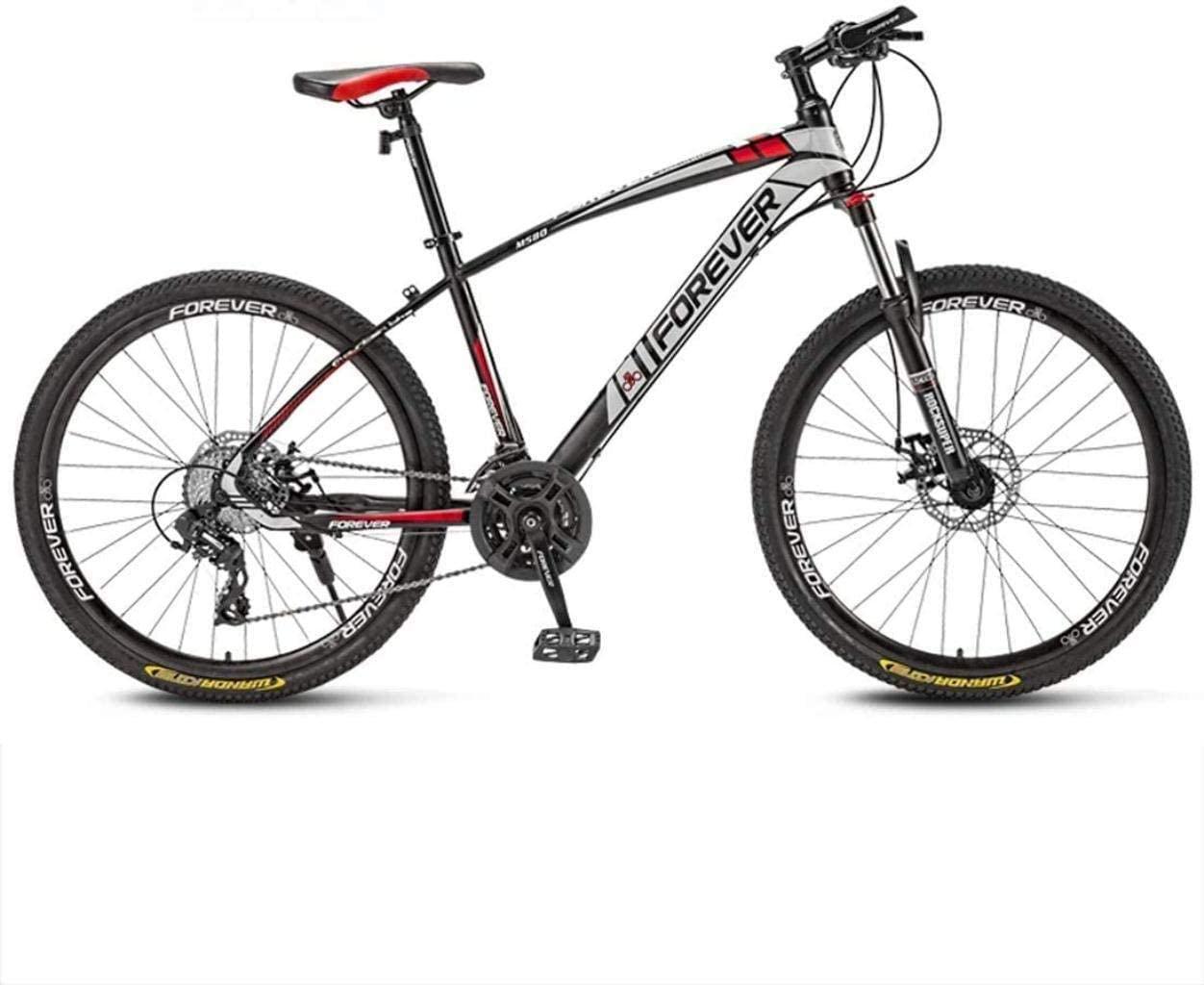 MJY 66 inch Mountain Bikes 21,24,27,30 Speed Mountain Bike 26 Inches Wheels Bicycle,White, Red, Blue,Black 6-11,A,30