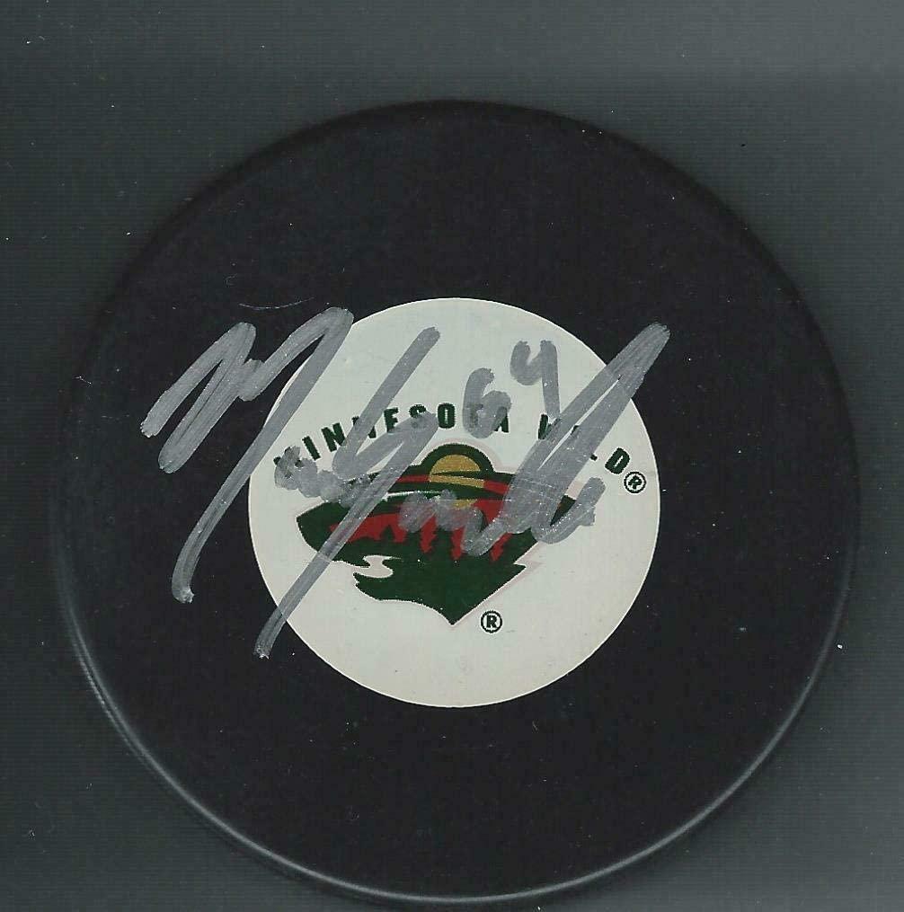 Marco Scandella Autographed Puck - Autographed NHL Pucks
