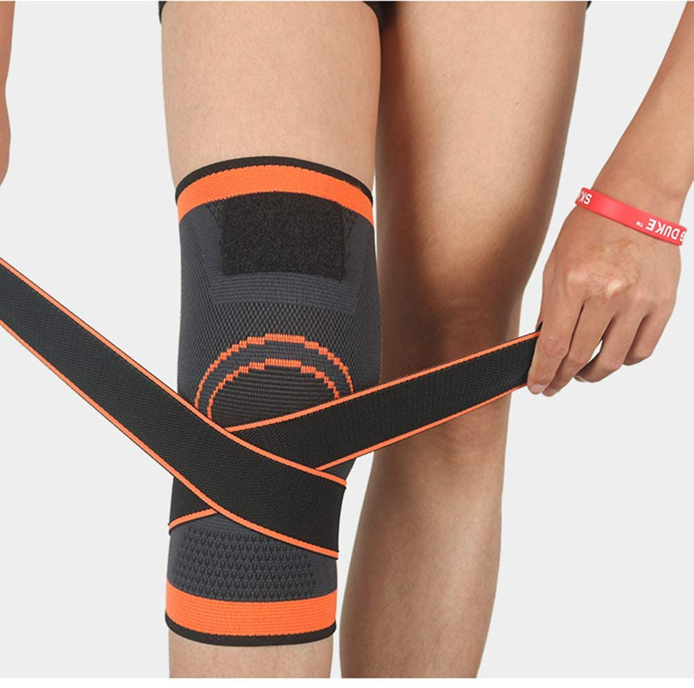 Knee Brace Adjustable Compression Support Gym Sports Basketball Running Cycling Badminton Comfort Knee Pad Women Men Knee Pads Wrap Pain Relief