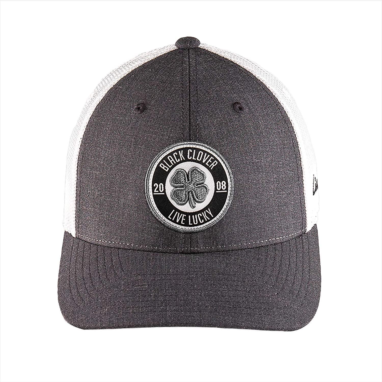 Black Clover New Anniversary Patch #9 Grey/White Mesh Snapback Hat/Cap