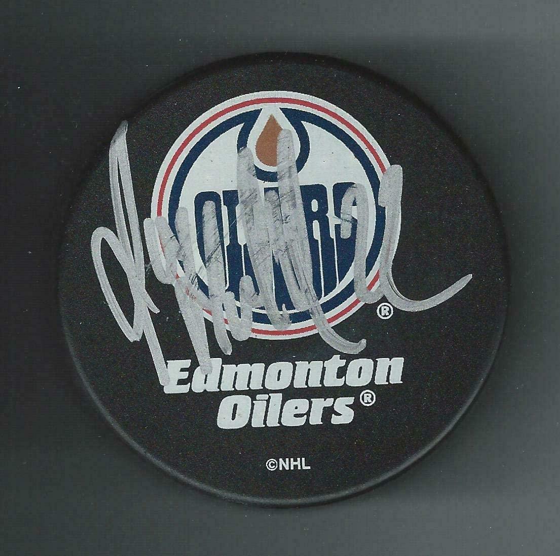 Roman Hamrlik Signed Puck - Souvenir - Autographed NHL Pucks