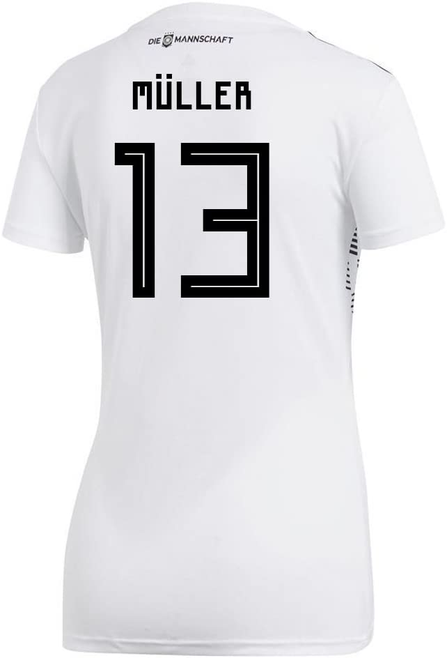 adidas Muller #13 Germany Home Women's Soccer Jersey World Cup Russia 2018