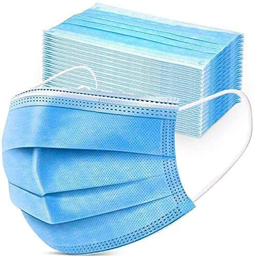 50PCS Disposable Face Masks, Breathable Face Mask 3 Layer Protection Best Facemask, Lightweight Dust Protective Facial Masks Bulk for Adult, Men, Women, Indoor, Outdoor Use
