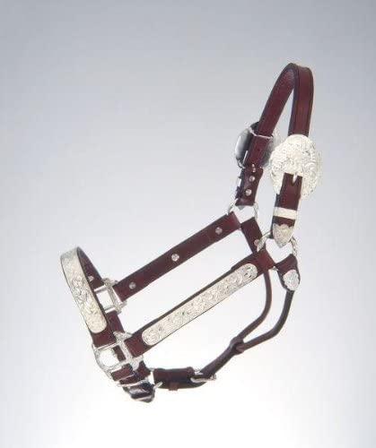 Tough-1 Royal King Yearling/Cob and Horse Silver Show Halter. Western Showmanship Halter (Horse)