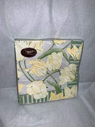 Caspari Parrot Tulips Pearl Luncheon Napkins, Package of 20