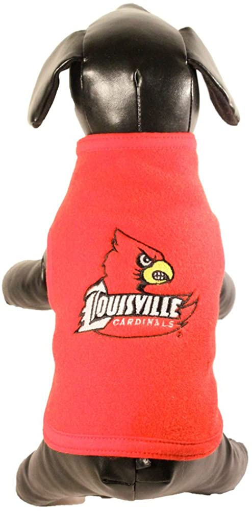 NCAA Louisville Cardinals Polar Fleece Dog Sweatshirt