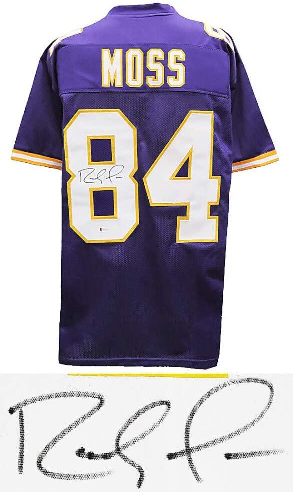 Minnesota Vikings Randy Moss Signed Purple Jersey - Beckett