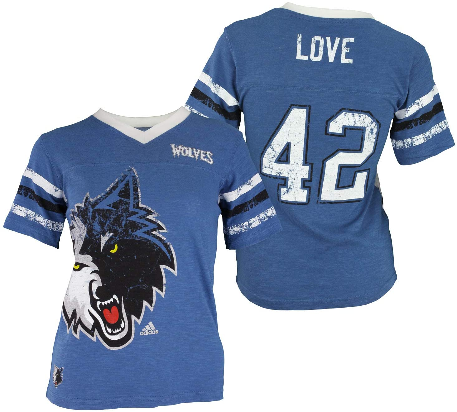 OuterStuff NBA Youth Girls Minnesota Timberwolves Kevin Love Replica Jersey Tee, Medium