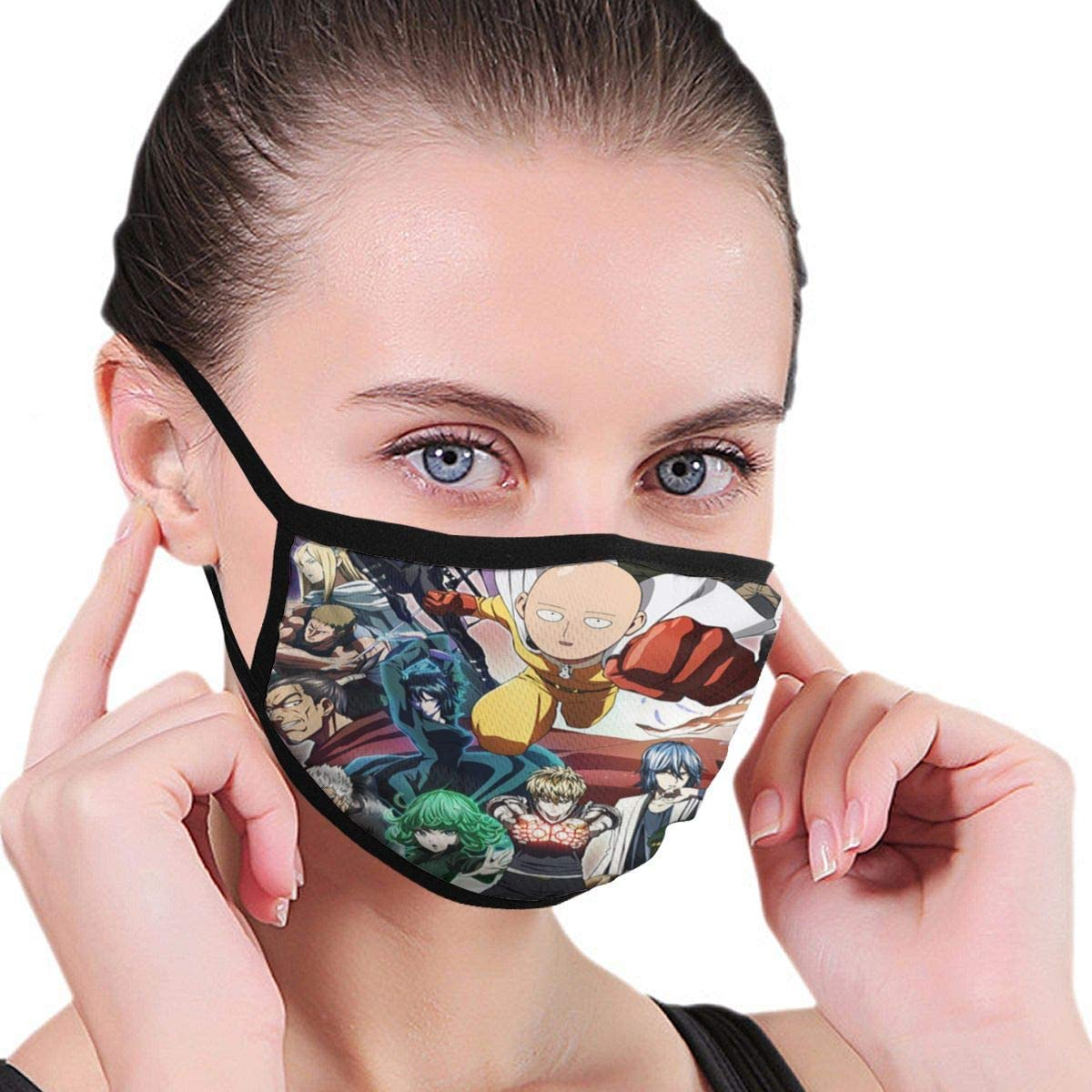 Wehoiweh One Punch Man Dust Prevention Face Cover Mouth Cover Bandana Cool Lightweight