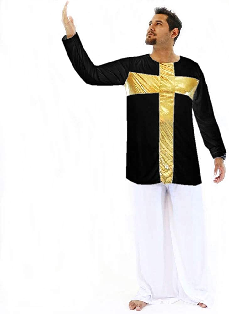 Danzcue Praise Cross Mens Inspired Pullover Dance Top