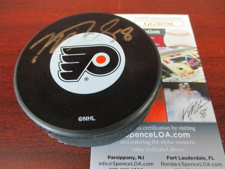Mike Richards Autographed Signed 8 JSA Authentic Philadelphia Flyers Hockey Puck !!!!