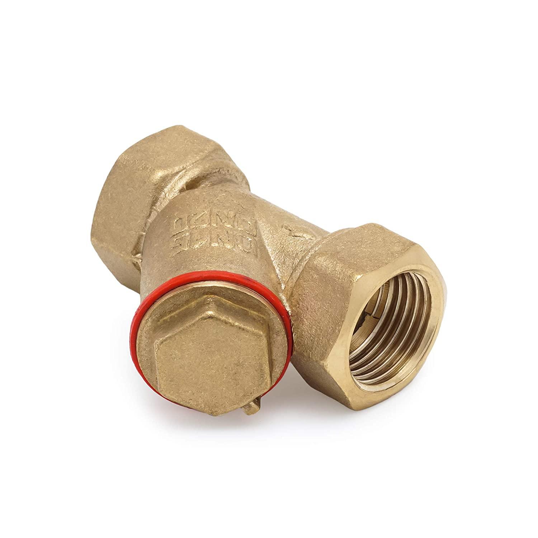 Y-Type Strainer 0,5 Female - Threaded Lead-Free Working Steam Pressure for Pumps Control Valves Meters Steam Traps Regulators Water Flow Filter (1/2)