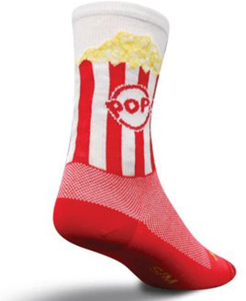 SockGuy Crew 6in Popcorn Cycling/Running Socks