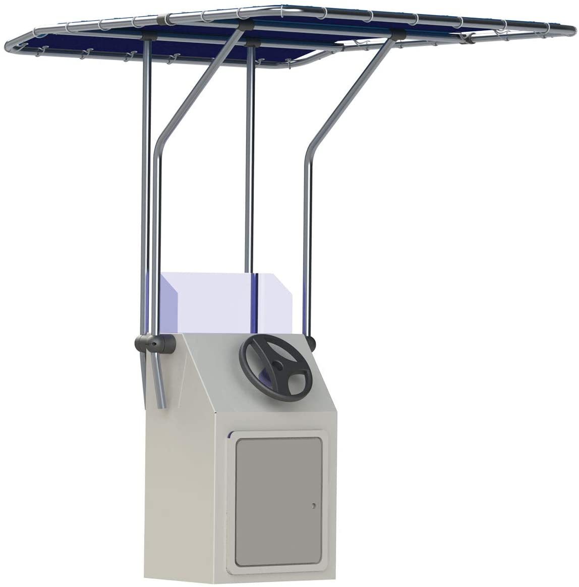 Oceansouth Marine Boat Retractable T-Top Boat T Top 2m Height 32mm Aluminum Tube MA 082