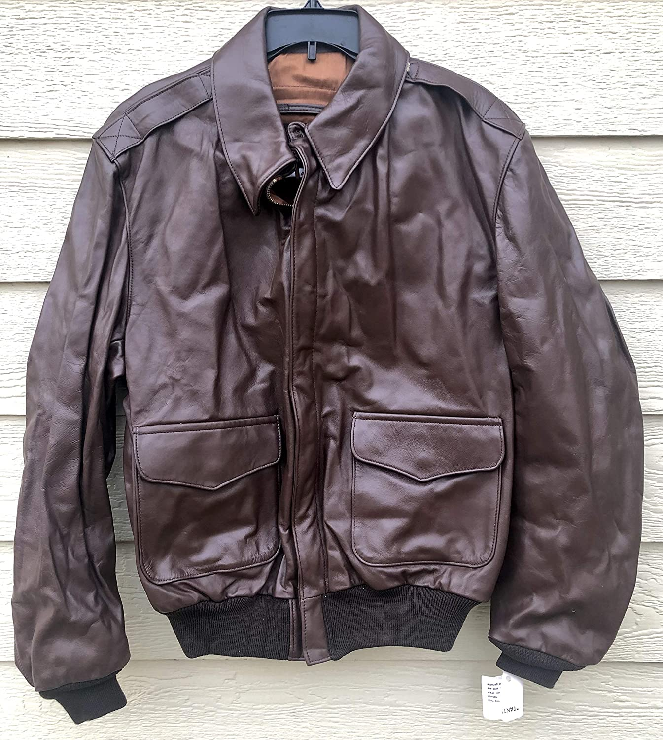US Army Air Force Genuine Leather A-2 Bombers Flyers Men's Flight Jacket - Size 46L