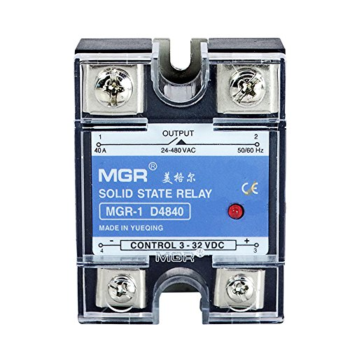 Mager normally open SSR-40A DC-AC MGR-1 D4840 Single Phase Solid State Relay input 3-32VDC output 24-480VAC Control current 3-35mADC