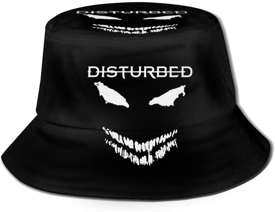 1763 Unisex Disturbed Print Double-Side-Wear Reversible Bucket Hat