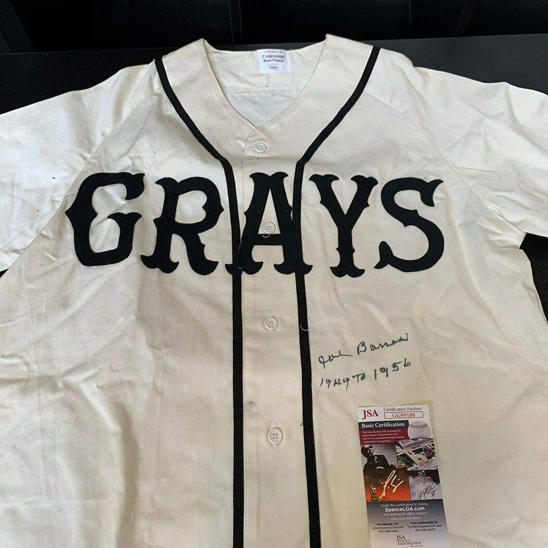 Joe Barnes Autographed Jersey - 1949 56 Homestead Grays Negro League COA - JSA Certified - Autographed NFL Jerseys
