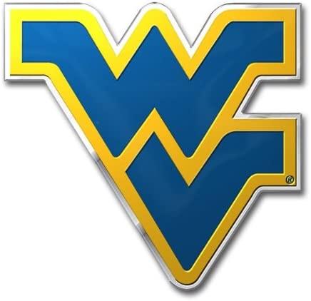 FANMATS West Virginia University Heavy Duty Aluminum Color Emblem
