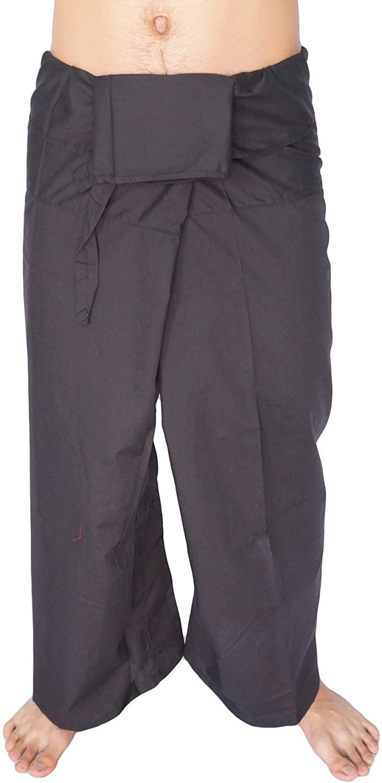 AromD Unisex Fisherman Wrap,Yoga,Massage,Pregnancy Pants/Waist up to 46