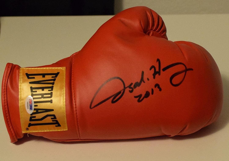 Oscar De La Hoya Signed Autod Everlast Boxing Glove Coa Wbc Champ A - PSA/DNA Certified - Autographed Boxing Gloves