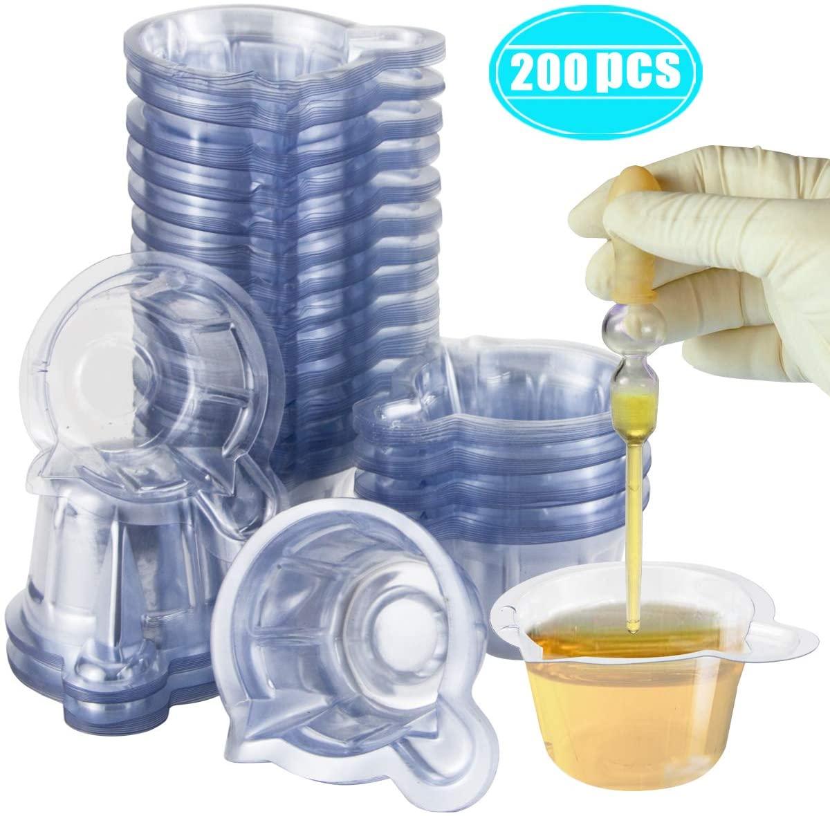 Anliswalker 200PCS Medical Disposable Plastic Urine Specimen Collection Cups Sample Cups for Pregnancy Test,Ovulation Test,PH Test,60ML