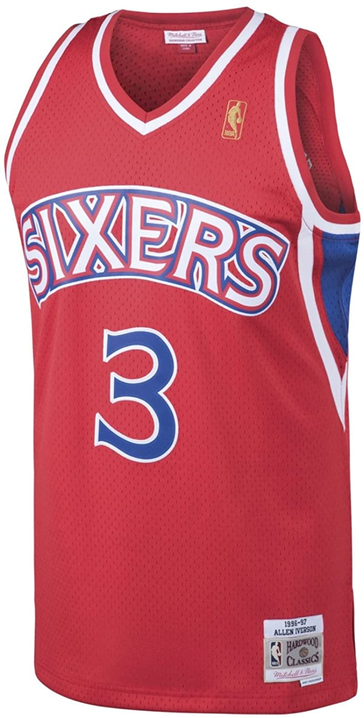 Mitchell & Ness Allen Iverson Philadelphia 76ers Swingman Jersey Red (Small)