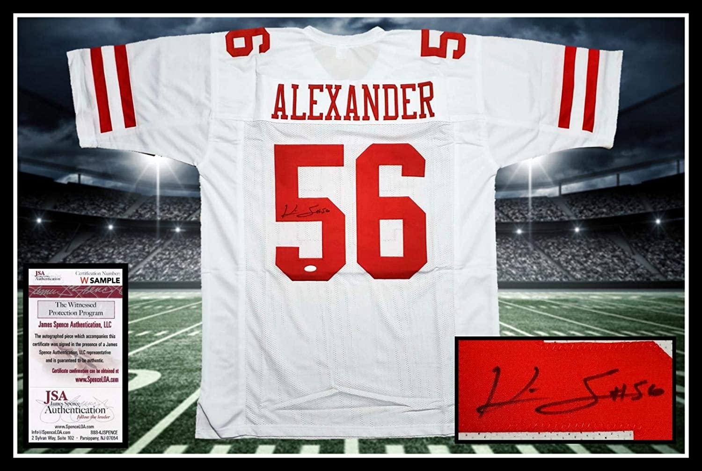 Autographed Kwon Alexander Jersey - 49ERS white coa UNFRAMED - JSA Certified - Autographed NFL Jerseys
