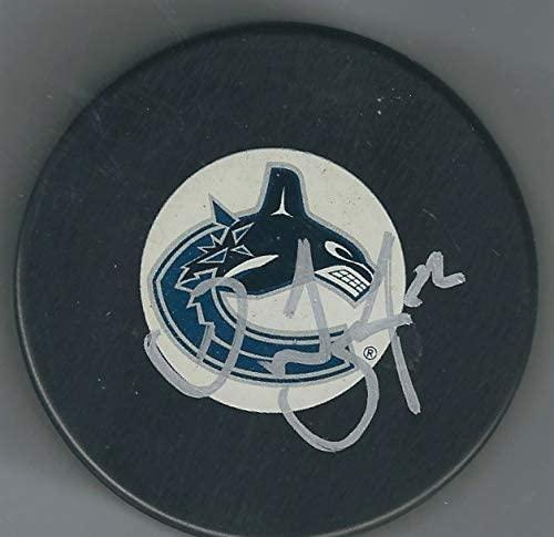 Autographed Daniel Sedin Vancouver Canucks Hockey Puck