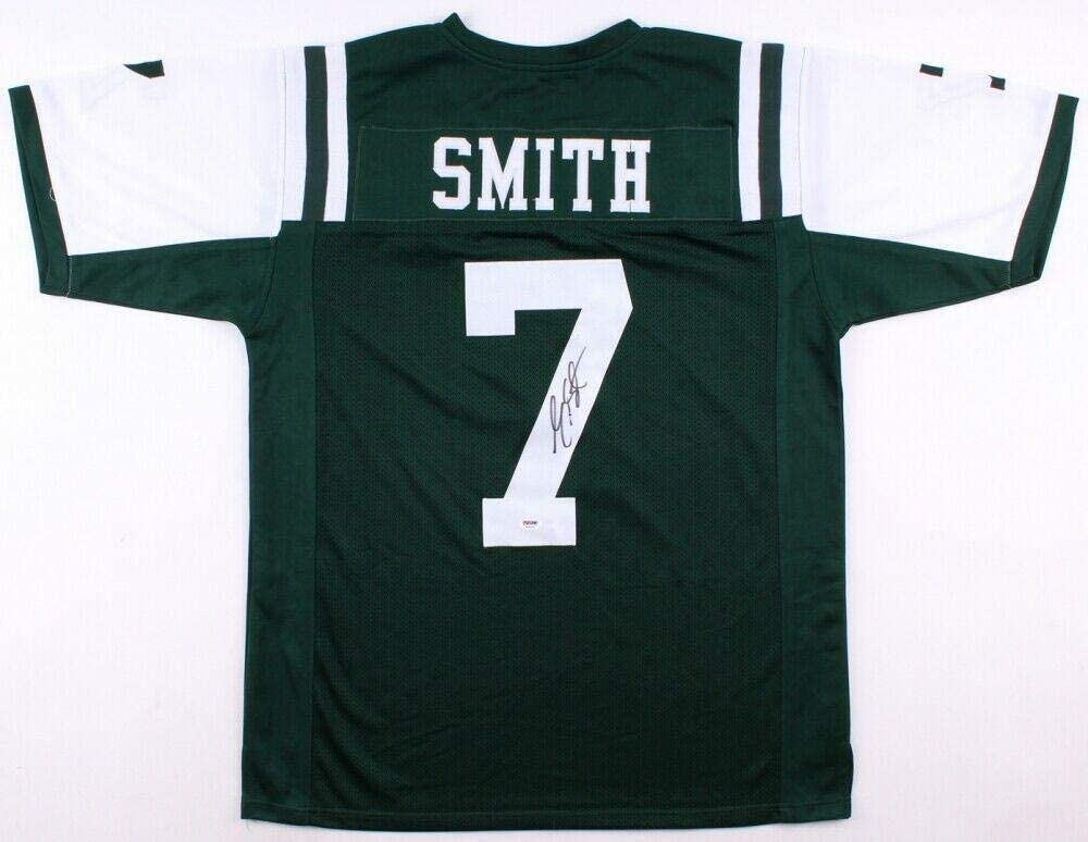 Geno Smith Signed Jersey - w COA NY GIANTS CHARGERS SEAHAWKS - PSA/DNA Certified - Autographed NFL Jerseys