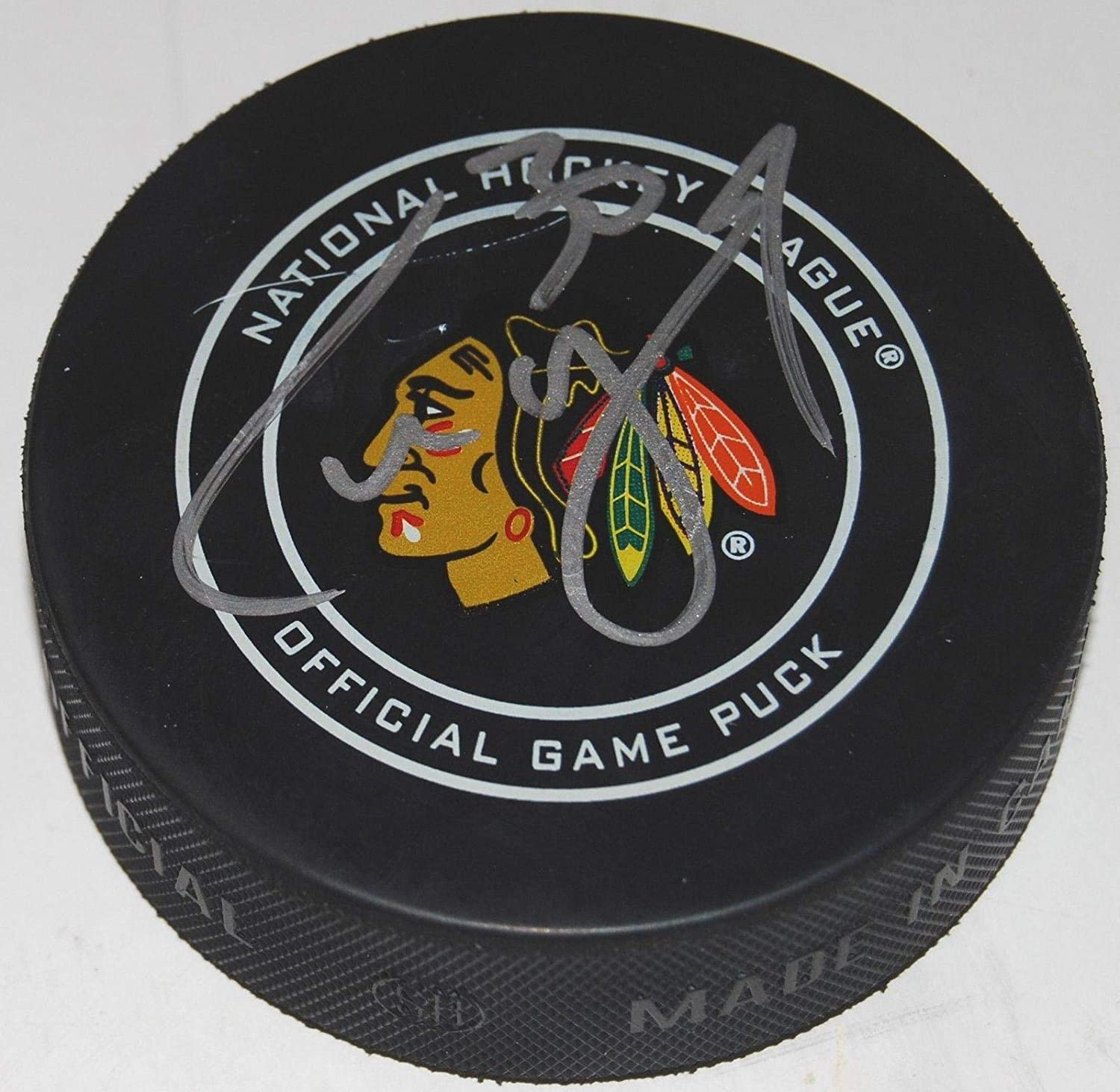 Signed Cam Ward Hockey Puck - W COA - Autographed NHL Pucks