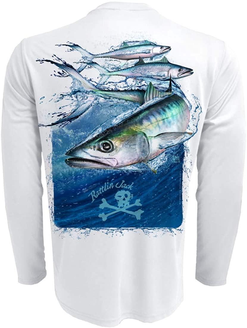 Rattlin Jack Men's Long Sleeve UV Fishing Shirt King Mackerel
