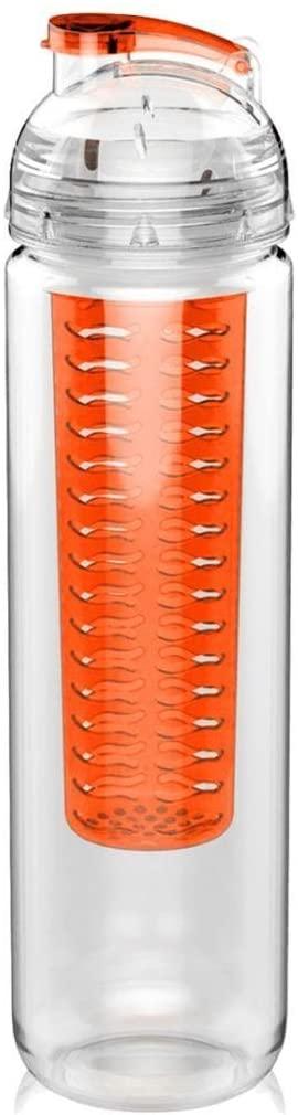 Sanhe Home Fruit Infuser Water Bottle Sport Flip-Top Leak Proof Lid Water Bottle
