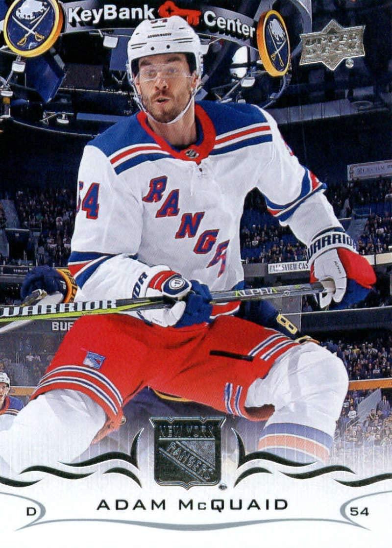 2018-19 Upper Deck #372 Adam McQuaid Mint Hockey NHL NY Rangers