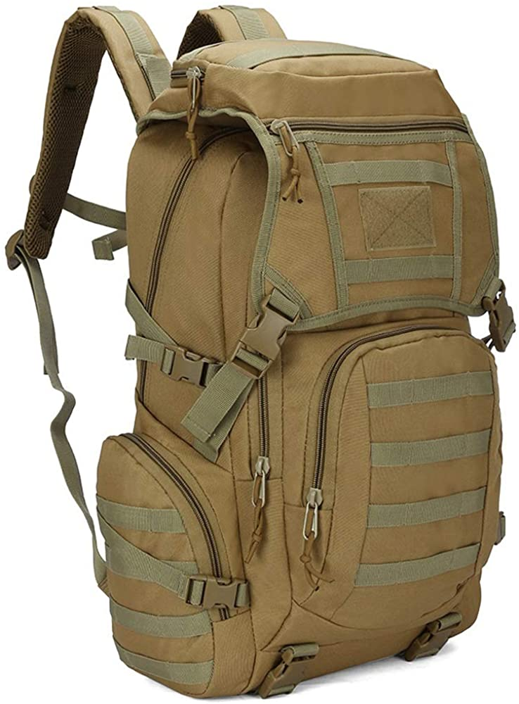 K-mover Tactical Backpacks Molle School Bag Hiking daypacks for Camping Hiking Military Traveling Motorcycle