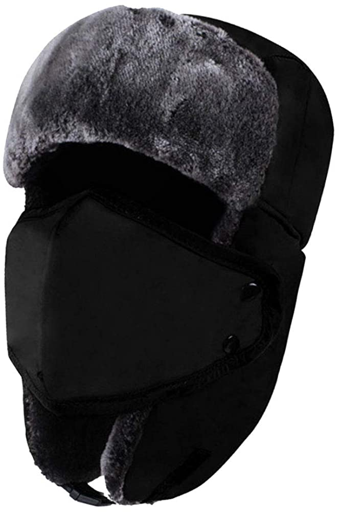 YOOCOOL Unisex Winter Trooper Trapper Hat Hunting Hat Ushanka Ear Flap Chin Strap and Windproof Mask