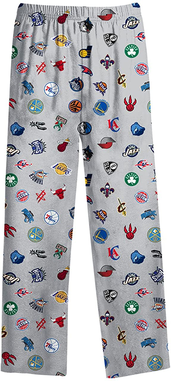 National Basketball Association Youth All Over Printed Pants - Gray,