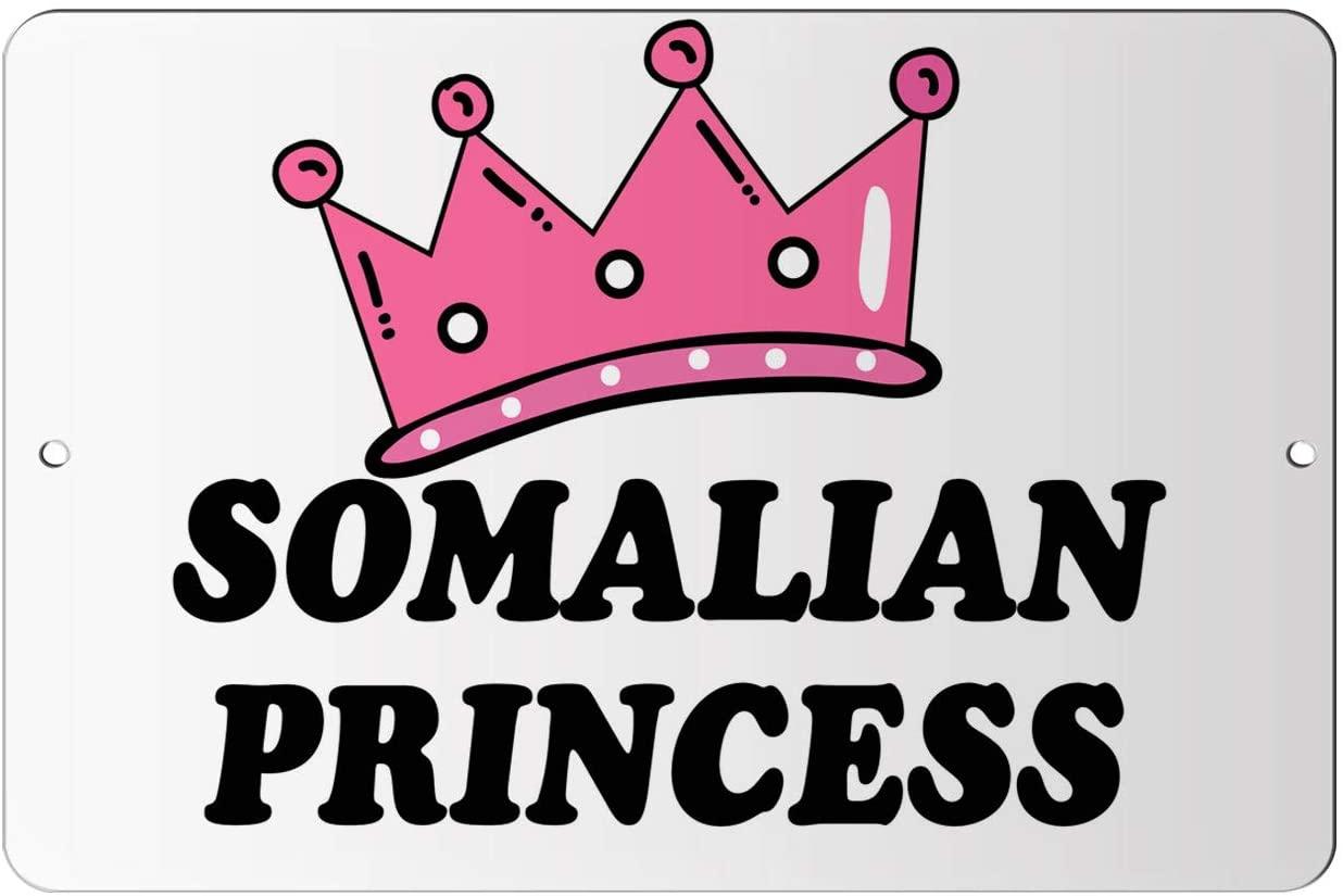 Makoroni - SOMALIAN Princess Princess Design 12x18 inc Aluminum Decorative Wall Street Sign