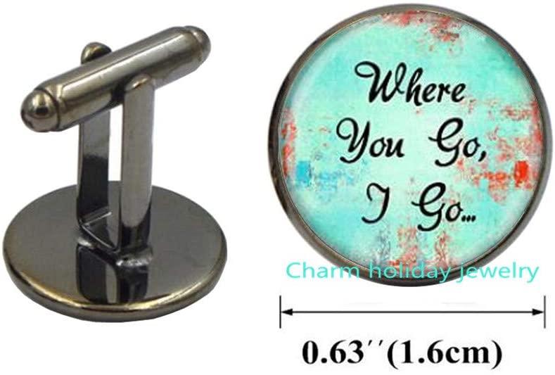 Where You GO I Go Cuff Links Christian Music Lyric Cufflinks Christian Jesus Culture Lyrics Cufflinks Christian Jewelry Christian Gift-#239